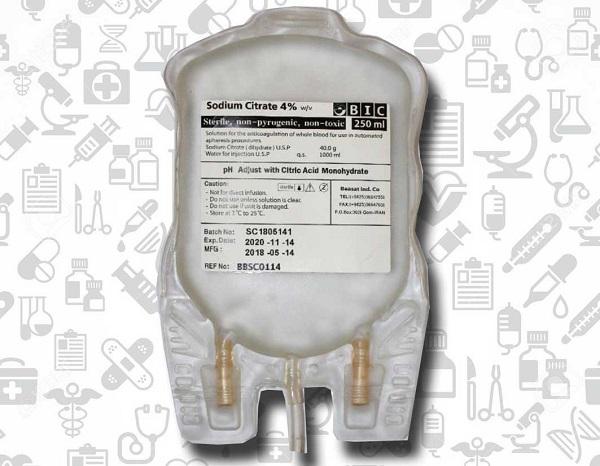 کیسه حاوی محلول سدیم سیترات 4%